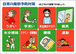 日常の風邪予防対策をまとめた図