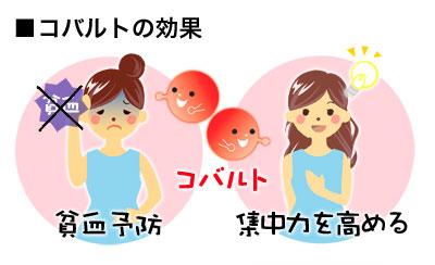 貧血予防に関わることを示す図
