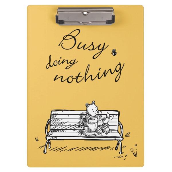 何もしないことに忙しい と書かれたカード