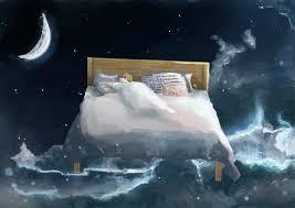 夢を見ている人