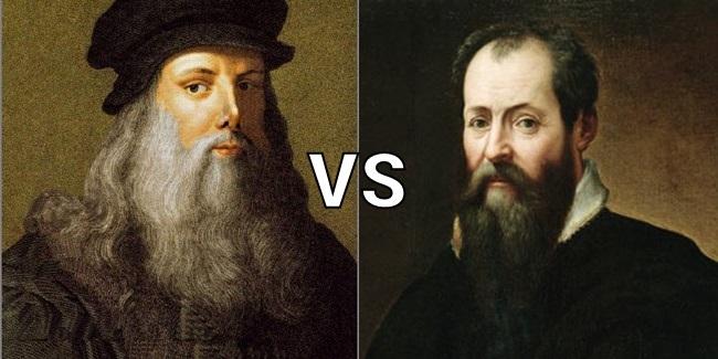 ダヴィンチとミケランジェロ それぞれの自画像