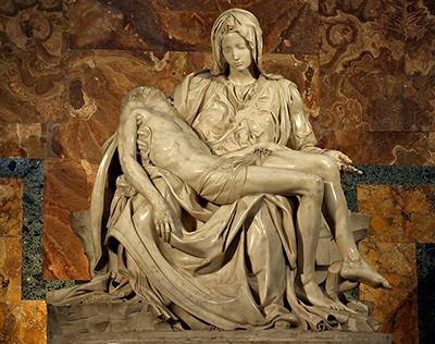 ミケランジェロの彫刻 ピエタ