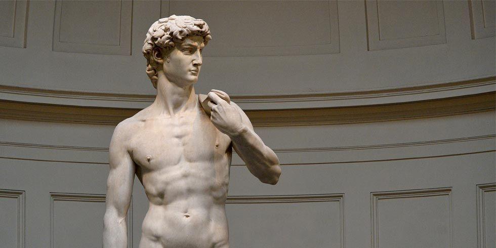 ミケランジェロが彫刻したダヴィデ像