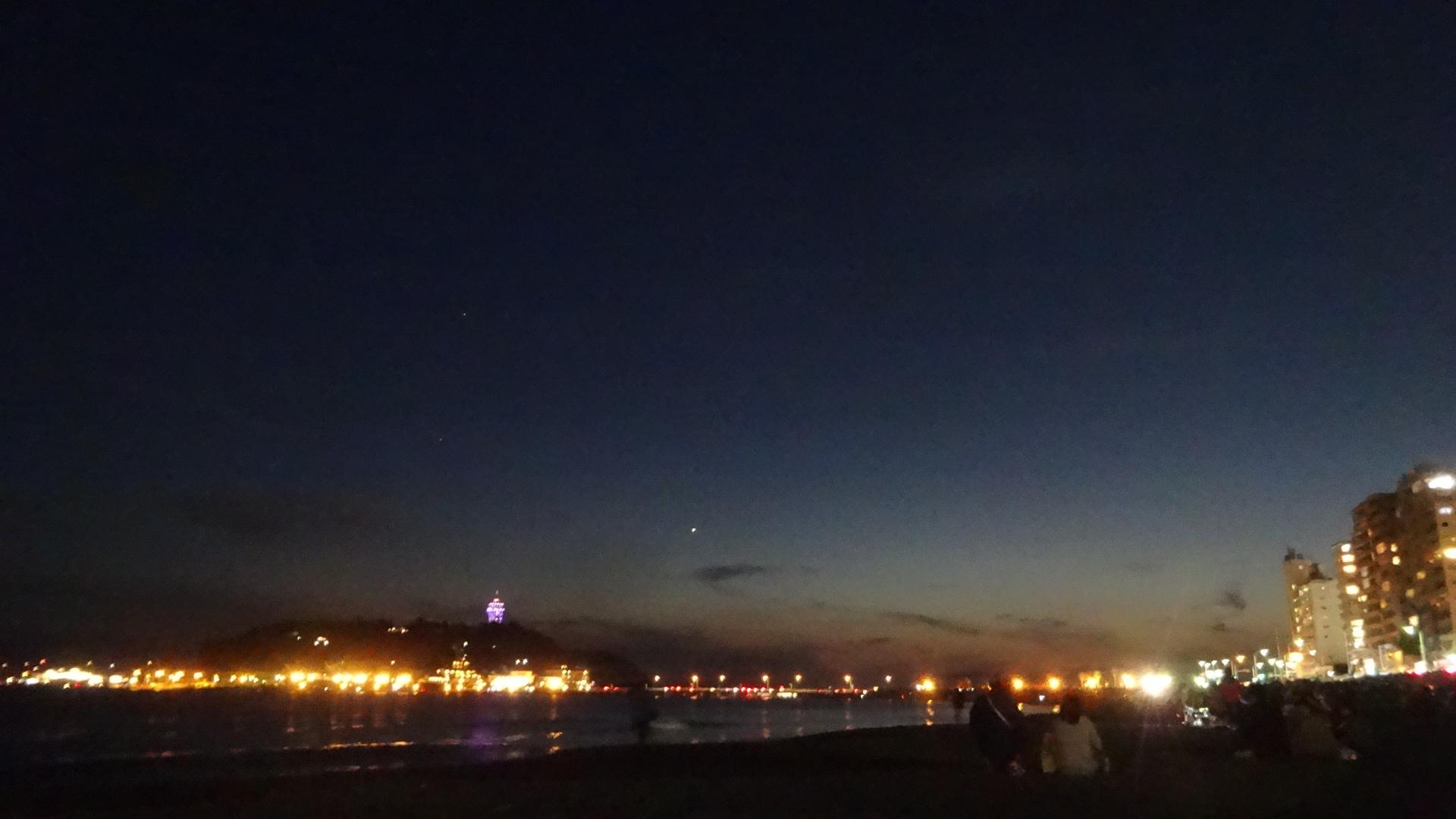 日が沈んだあと 刻一刻と空の蒼さが濃さを増していくさ2
