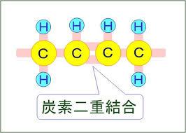 炭素の二重結合を示した図