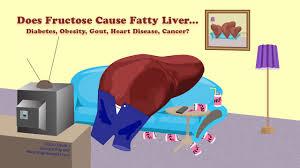 果糖が脂肪肝を誘導しやすいことを注意喚起する図
