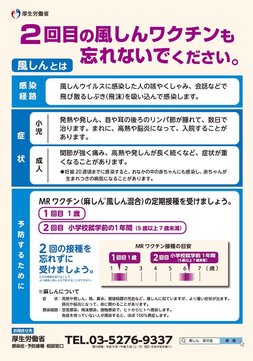 ワクチンの2回接種を呼びかけるポスター