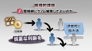受精卵へのゲノム編集のリスクを警鐘するポスター