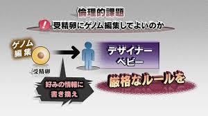 受精卵へのゲノム編集によるデザイナーベビー誕生のリスクを警鐘するポスター