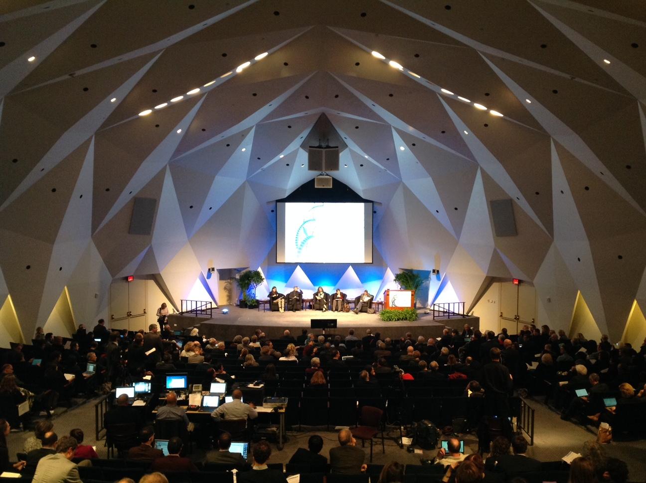 ヒトゲノム編集国際会議の会場の様子
