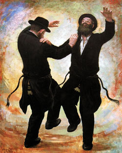 ユダヤ人が踊る姿を描いた絵