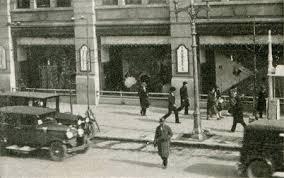 昔の銀座のショーウインドウの写真