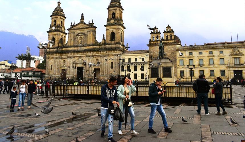 コロンビアのボゴタの街並み