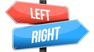 右 左 と書かれた標識