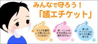 咳エチケットの励行を勧めるポスター