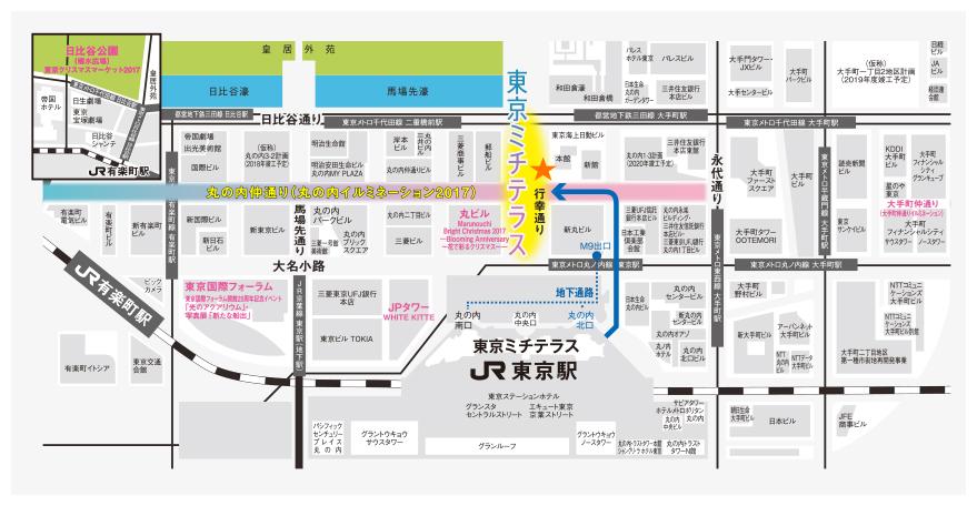 東京ミチテラスの地図