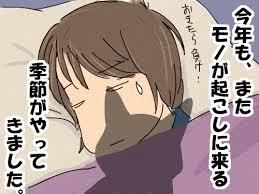 ネコに起こされるのを恐れながら寝ている人