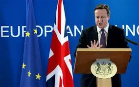 イギリス首相の会見の様子