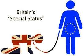 EUに支配されるイギリスのイラスト