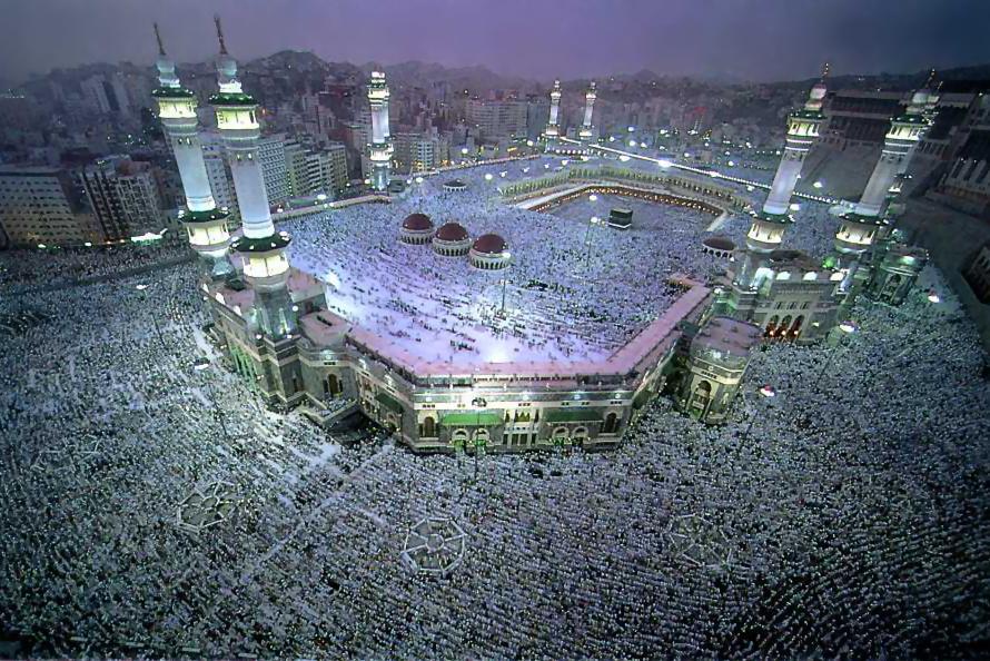 イスラム教徒のメッカ巡礼の様子