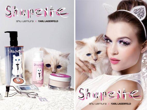 ご自分のお名前がついたブランド商品と写真に写るシュペットちゃん