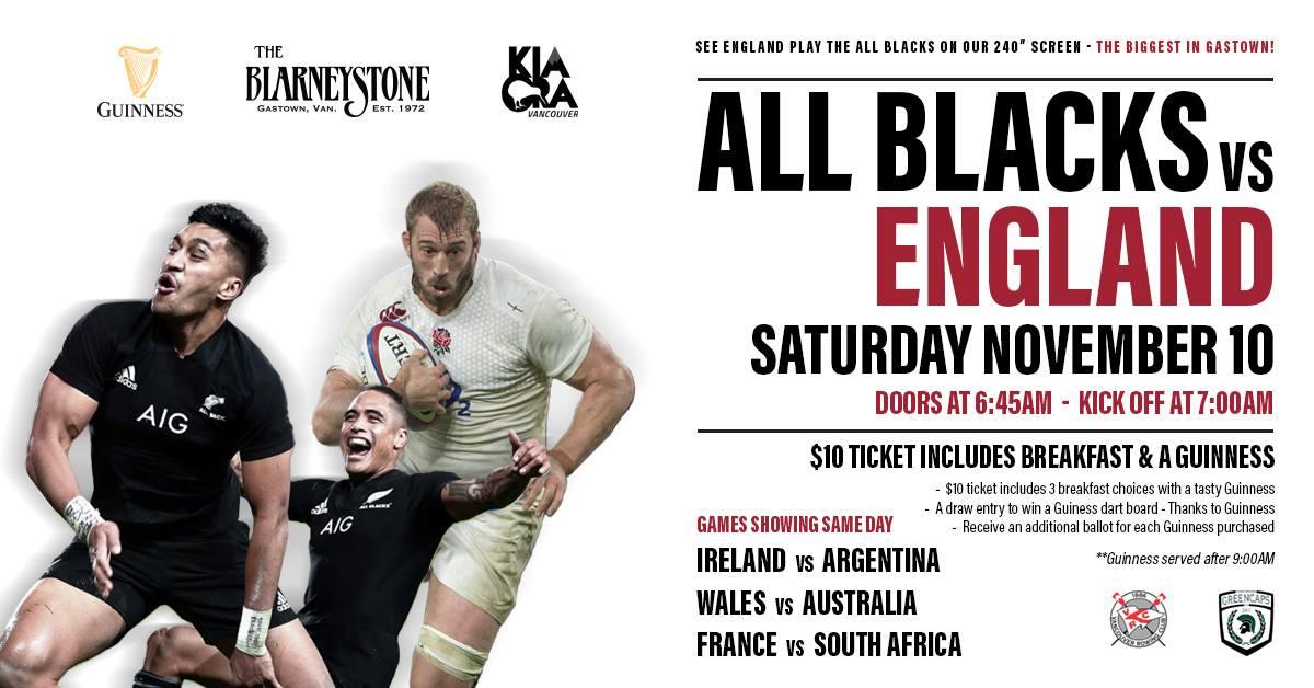 オールブラックス対イングランド戦のポスター