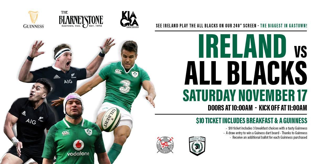 オールブラックス対アイルランド戦のポスター