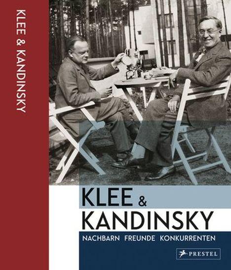 談笑するカンディンスキーとクレーの写真
