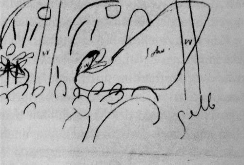 カンディンスキーが書いたシェーンベルグのコンサートのデッサン