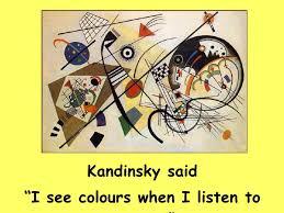 カンディンスキーは音を聞いて色を感じると語った と記されたカード