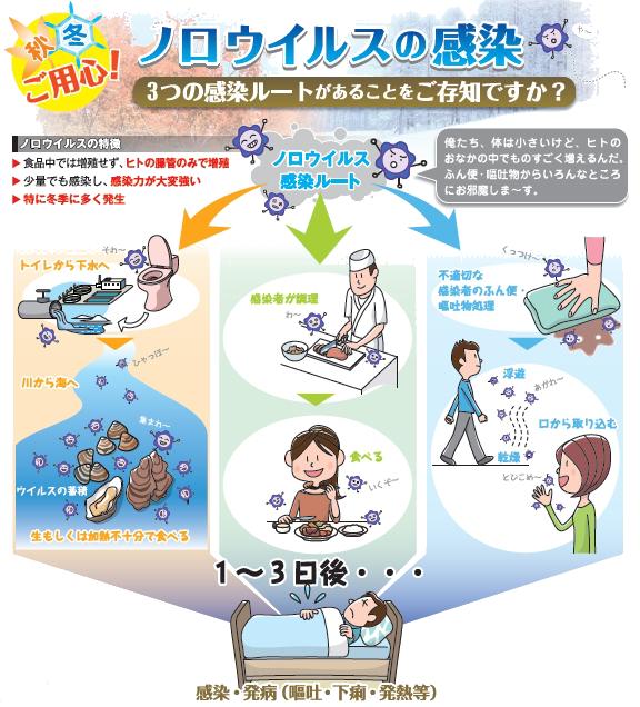 家庭や職場でのノロウイルス対処法