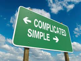 複雑かシンプルかを問う質問が書かれたカード