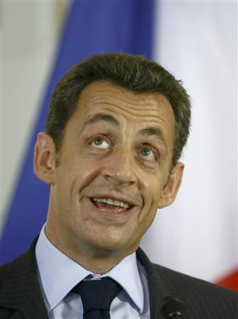 サルコジ元大統領の写真