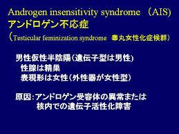 アンドロゲン不応症の説明図