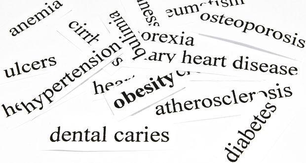 生活習慣病に分類される病気を記したカード