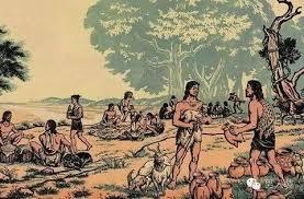 狩猟生活に別れを告げ農業を始めたヒトの姿