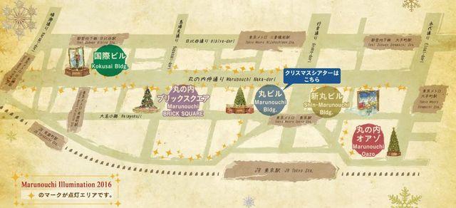 パンフレットに記されたイルミネーションの案内地図