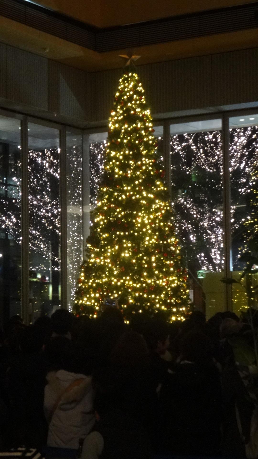 丸ビルの大きなクリスマスツリー