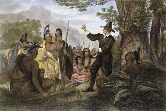 植民地で原住民に対するヨーロッパ人の様子
