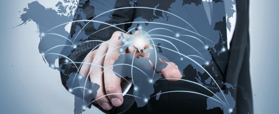 グローバル企業が世界規模で国家を選択している様子