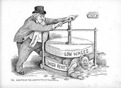 徹底して搾取しまくる資本主義を揶揄する戯画