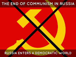 ソビエト社会主義の崩壊を示すイラスト