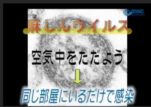 麻疹は空気感染することを示す図