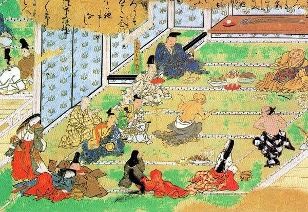 鎌倉時代の酒席の様子
