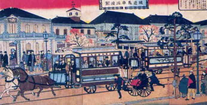 日本の近代社会の頃の街の写真