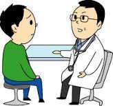 医師と患者が会話する光景