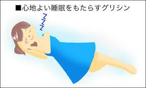 グリシンは睡眠の維持に関わっていることを示す図