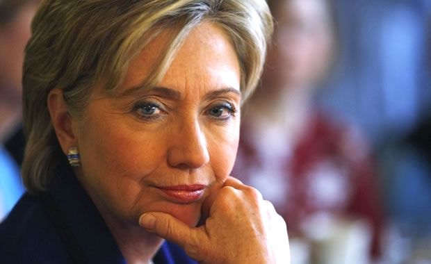 ヒラリーの顔写真