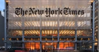 ニューヨークタイムスの紙面