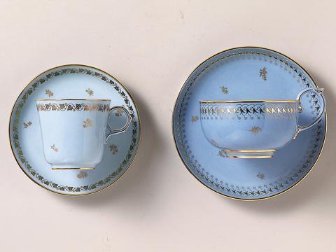 アガサブルーのコーヒーカップ